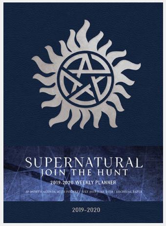 Supernatural Weekly Planner 2019-2020