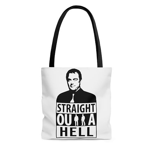 Supernatural Crowley Straight Outta Hell Tote Bag
