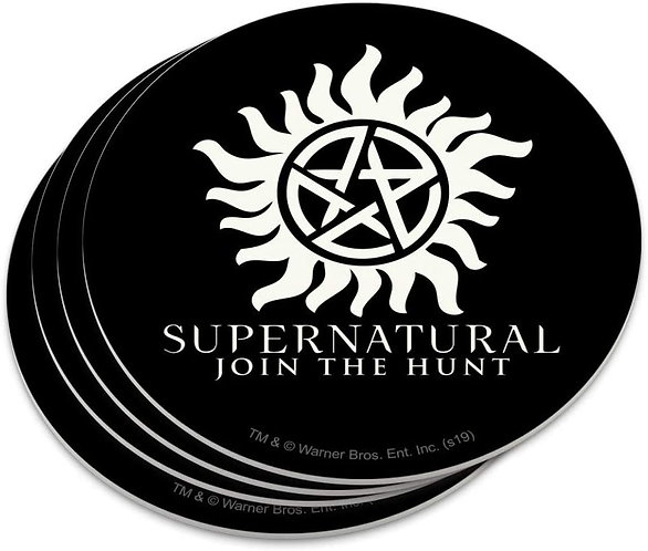Supernatural Anti-Possession Symbol Title Join the Hunt Coasters