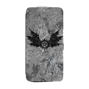 Supernatural Ipurgatory Anti-Possession Symbol Wings iPhone Phone Wallet Case