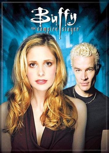 Buffy the Vampire Slayer Ipurgatory Buffy and Spike Blue Magnet