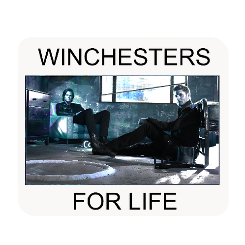 Supernatural Ipurgatory Winchesters For Life Mousepad