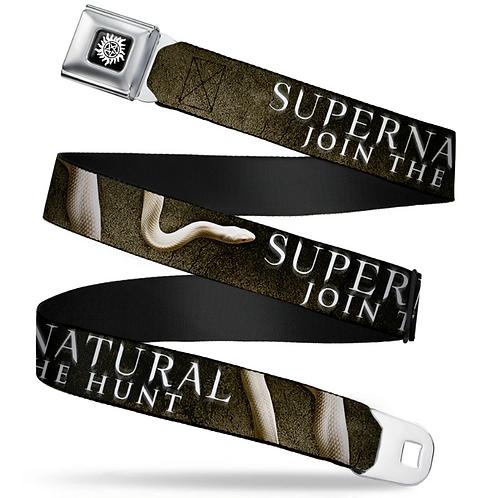 Supernatural Ipurgatory Join the Hunt Title Snake Belt with Buckle