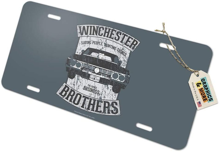 Supernatural Ipurgatory Winchester Brothers Impala Gray License Plate