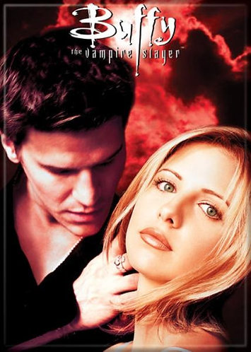 Buffy the Vampire Slayer Ipurgatory Buffy and Angel Red Magnet
