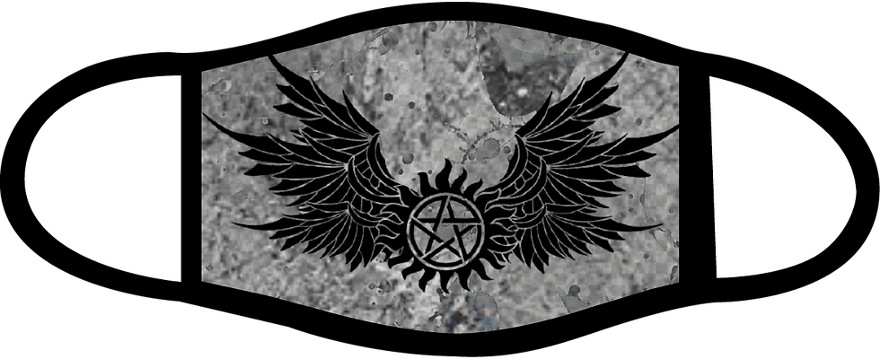 Supernatural Ipurgatory Anti-Possession Wings Gray Mask