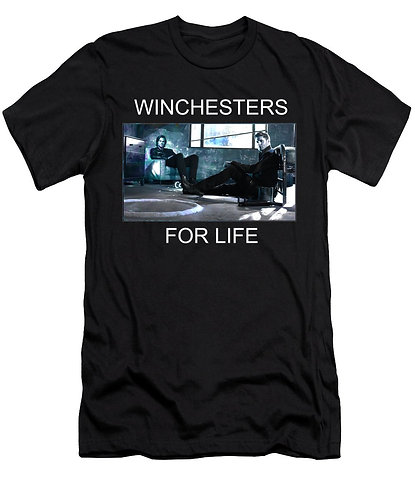 Supernatural Ipurgatory Winchesters For Life Men's Black T-Shirt
