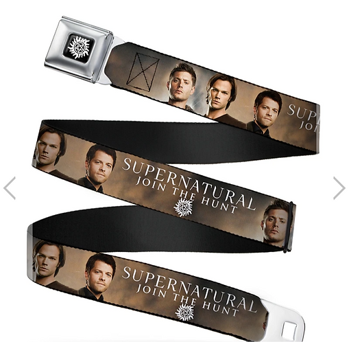 Supernatural Ipurgatory Join the Hunt Three Three Characters Belt with Buckle