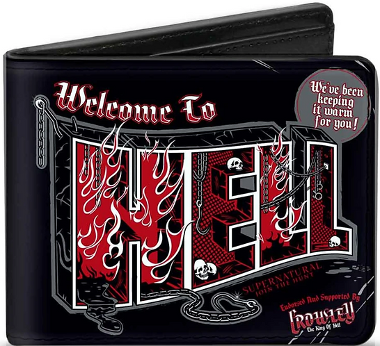 Supernatural Ipurgatory Crowley Welcome To Hell Bi-Fold Wallet