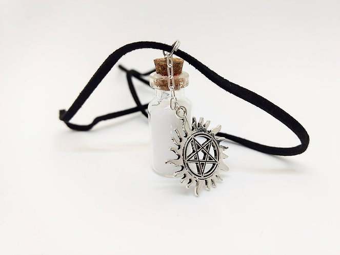 Supernatural Inspired Handmade Anti-Possession Charm Necklace