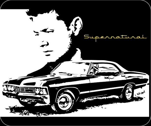 Supernatural Ipurgatory Dean Impala Title Mousepad