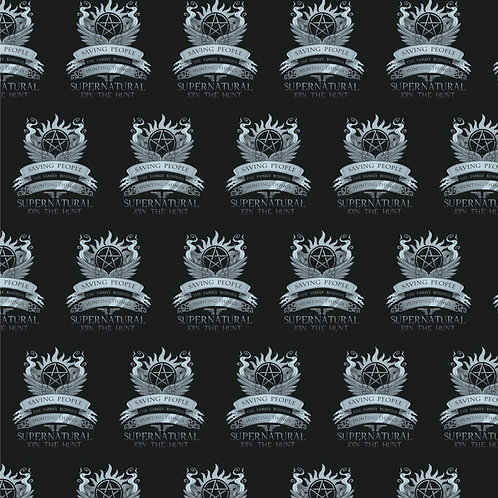 Supernatural Ipurgatory Saving People Family Business Crest Black Wrapping Paper