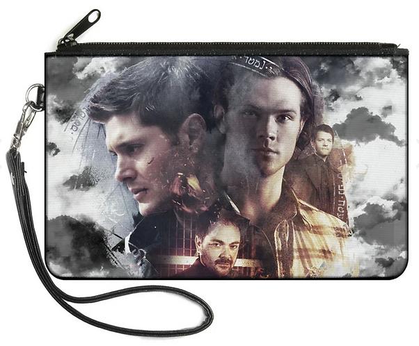 Supernatural Ipurgatory Four Character Faces Zipper Wallet