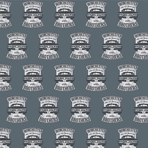 Supernatural Ipurgatory Winchester Brothers Impala Gray Wrapping Paper