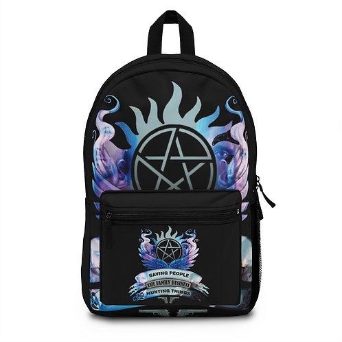 Supernatural Saving People Family Business Crest Backpack