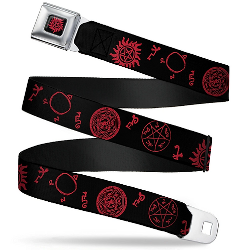 Supernatural Ipurgatory Devil Icons Red Belt with Buckle