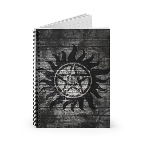 Supernatural Anti-Possession Gray Textured Spiral Ruled Notebook