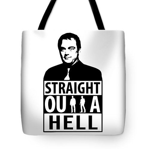 Supernatural Ipurgatory Crowley Straight Outta Hell Tote Bag