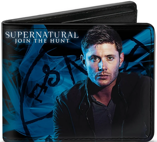 Supernatural Ipurgatory Dean Winchester Blue Bi-Fold Wallet