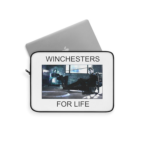 Supernatural Winchesters For Life Blue Laptop Sleeve