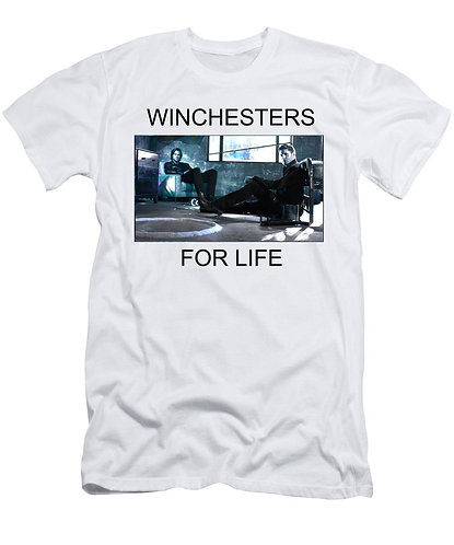 Supernatural Ipurgatory Winchesters For Life Men's White T-Shirt