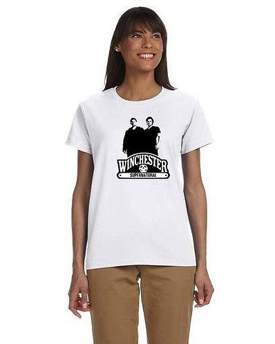 Supernatural Winchester DUO Black N White T-Shirt