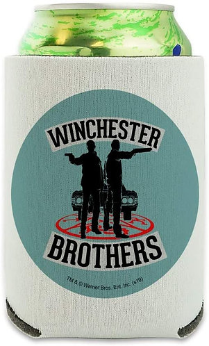 Supernatural Winchester Brothers Silhouette Blue Drink Sleeve