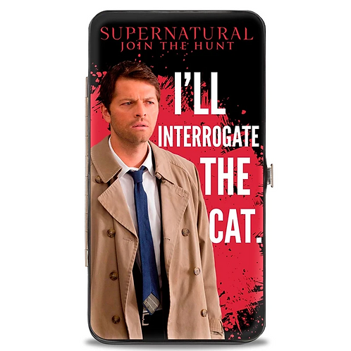 Supernatural Ipurgatory Castiel Interrogate The Cat Hinge Wallet