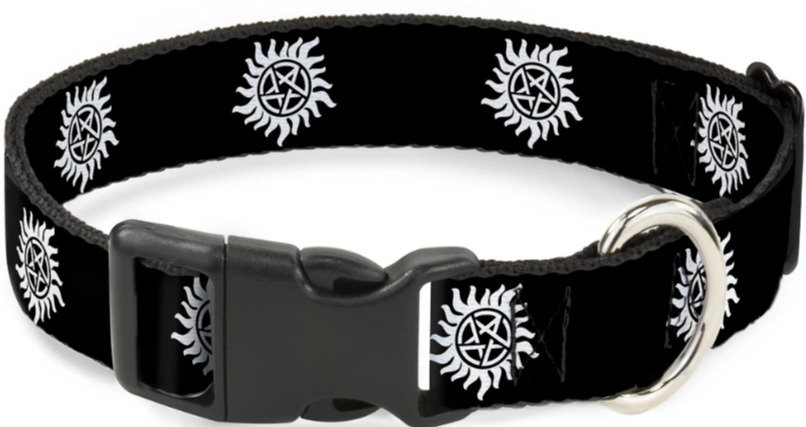 Supernatural Ipurgatory Anti-Possession Logo Dog Collar with Plastic Breakaway