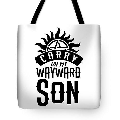 Supernatural Carry Wayward Son Tote Bag