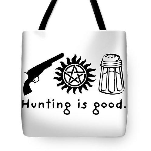 Supernatural Ipurgatory Hunting is Good Icons Tote Bag