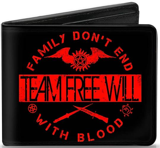 Supernatural Ipurgatory Family Dont End Team Free Will Bi-Fold Wallet