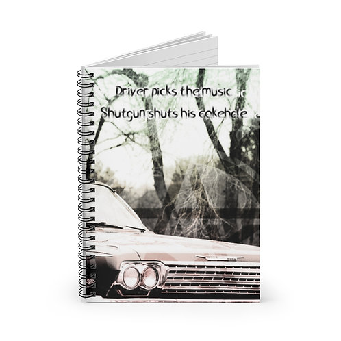Supernatural Driver Picks the Music Impala Spiral Ruled Notebook