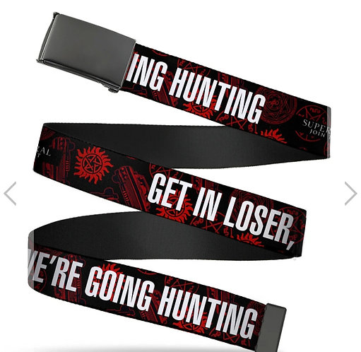 Supernatural Ipurgatory Get In Losers Red Belt with Black Clasp