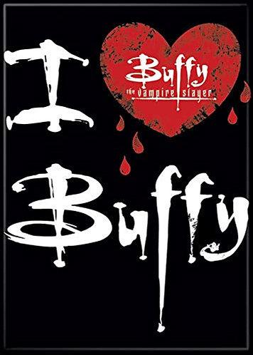 Buffy the Vampire Slayer Ipurgatory I Heart Buffy with Logo Magnet