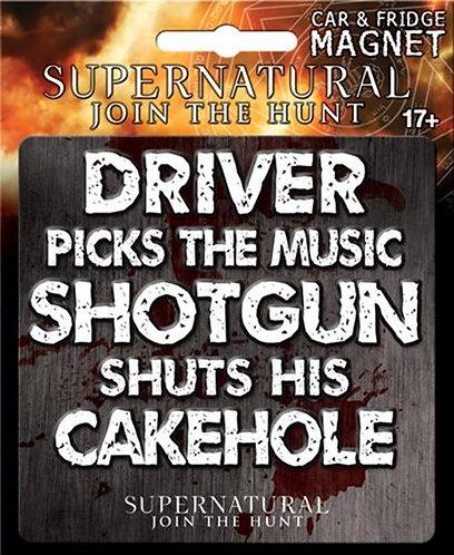 Supernatural Ipurgatory Driver Picks the Music Car Magnet