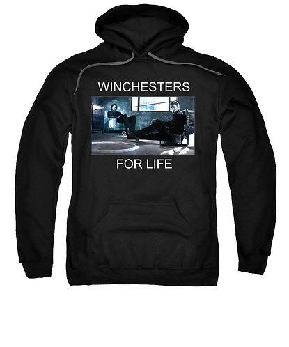 Supernatural Ipurgatory Winchesters For Life Black Hoodie Sweatshirt