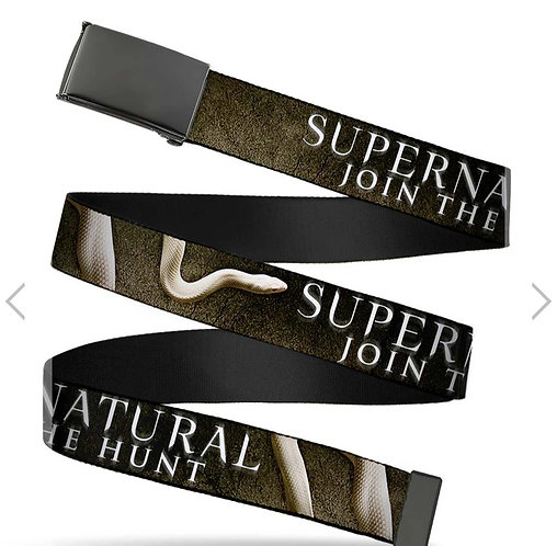 Supernatural Ipurgatory Join the Hunt Title Belt with Black Clasp