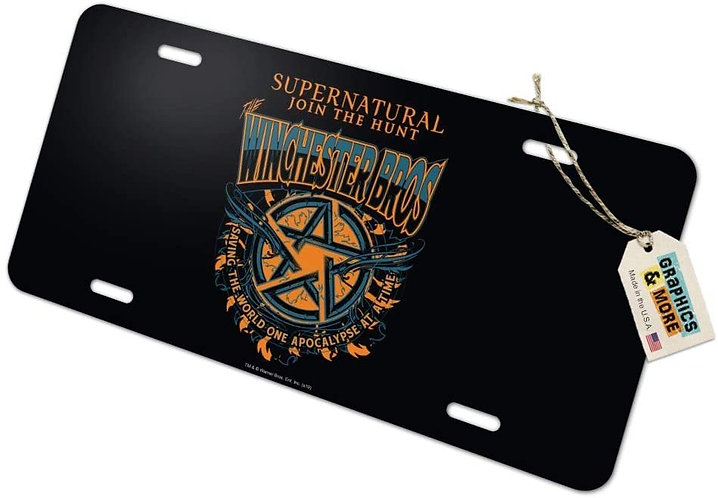 Supernatural Ipurgatory Winchester Bros Pentagram License Plate