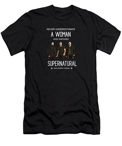 Supernatural Ipurgatory When A Woman Watches Men's T-Shirt