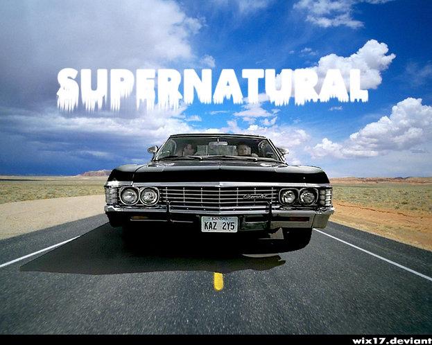 Supernatural Ipurgatory Impala Road Blue Sky Title Mousepad