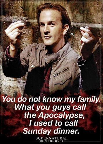 Supernatural Ipurgatory Gabriel Sunday Dinner Quote Magnet