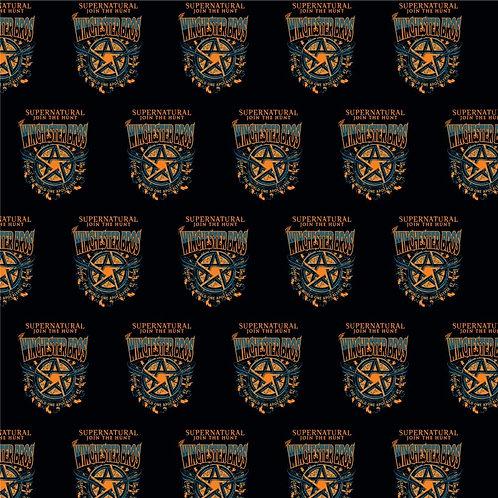 Supernatural Ipurgatory Winchester Bros Pentagram Black Wrapping Paper