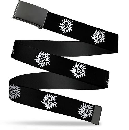 Supernatural Ipurgatory Anti-Possession Logo Belt with Black Clasp