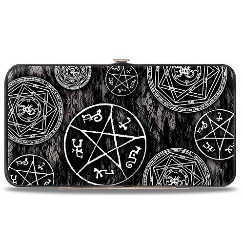 Supernatural Ipurgatory Devile Trap Icons Scattered Hinge Wallet