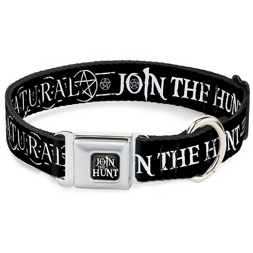 Supernatural Ipurgatory Join the Hunt Title Dog Collar with Metal Clip
