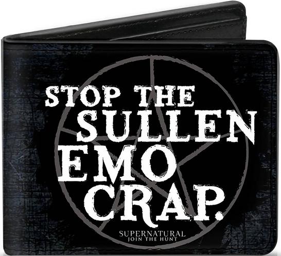Supernatural Ipurgatory Stop The Sullen Emo Crap Bi-Fold Wallet