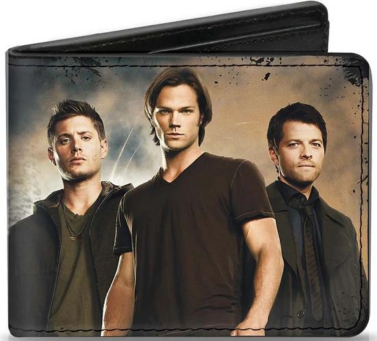 Supernatural Ipurgatory Trio Castiel Sam Dean Bi-Fold Wallet
