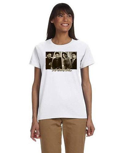 Supernatural Castiel Crowley Dean Sam Title T-Shirt