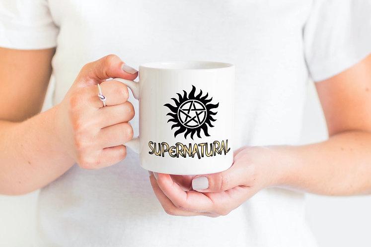 Supernatural Anti-Possession Symbol Logo Title Mug